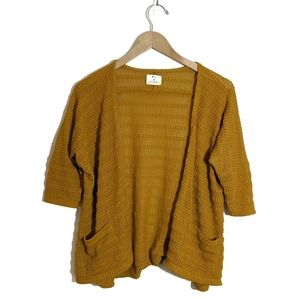 Pins & Needles Mustard Yellow Open Cardigan